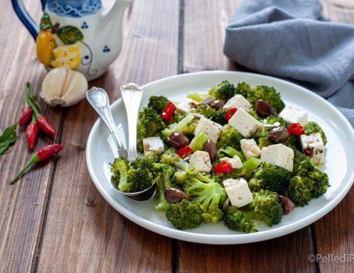 Insalata di broccoletti e feta