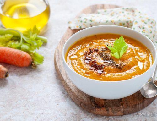 Crema di carote e zucca allo zenzero