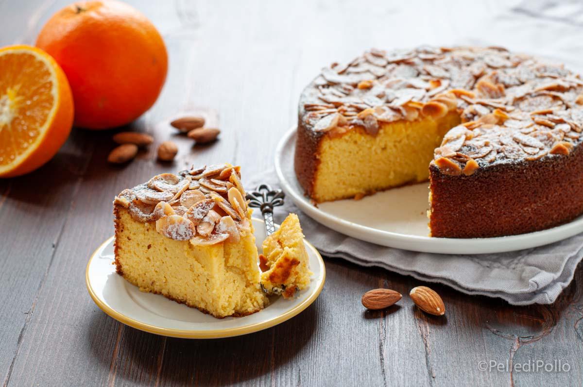 torta con arance e mandorle senza glutine