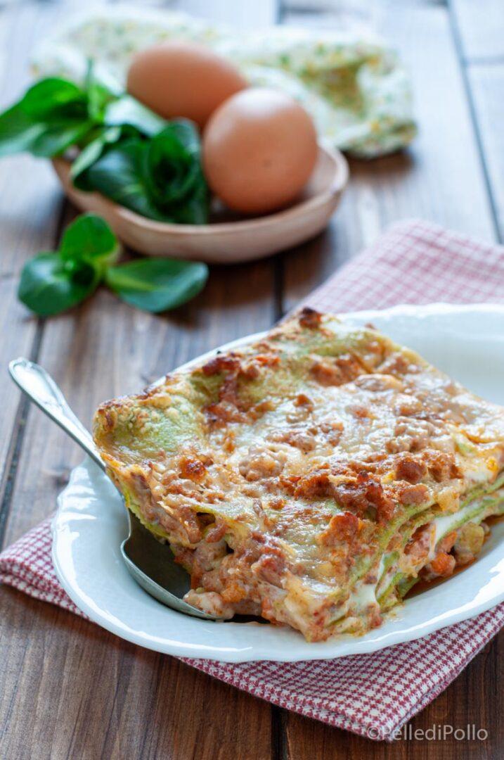 lasagne verdi al forno con ragù
