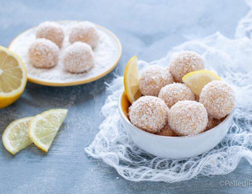 Palline al cocco e limone senza cottura