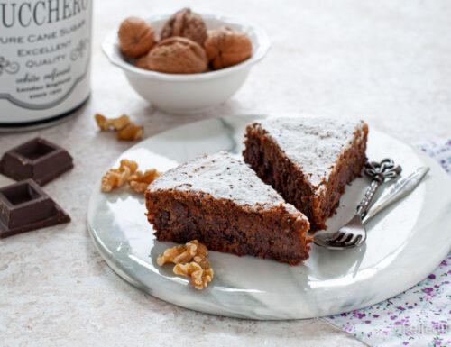 Torta di noci e cioccolato dell'Artusi