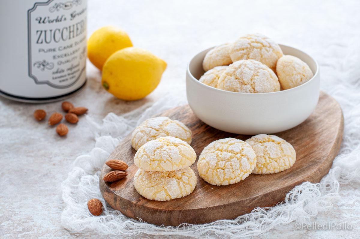 biscotti morbidi alle mandorle e limone