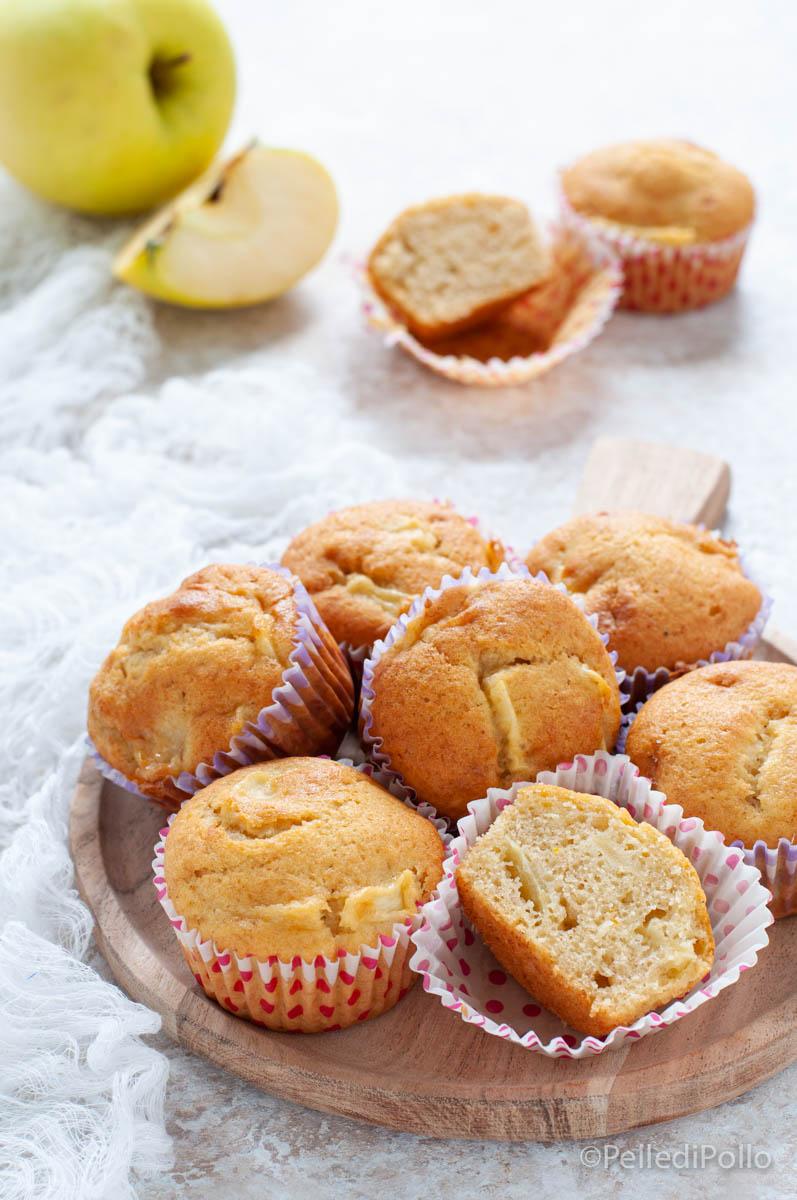 muffin semplici con mele e banana