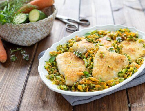 Petto di pollo in padella con verdure