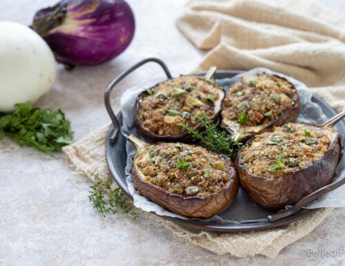 Melanzane ripiene con tonno e olive