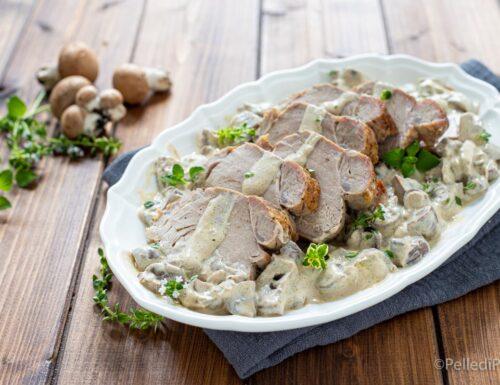 Filetto di maiale ai funghi
