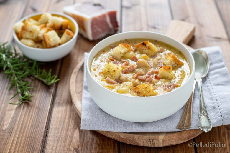 Zuppa di ceci con speck e patate