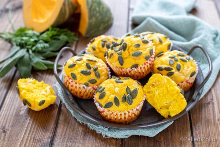 muffin salati soffici alla zucca