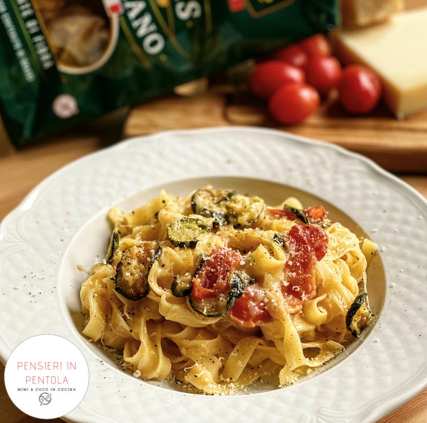 Pasta zucchine e pomodorini senza glutine