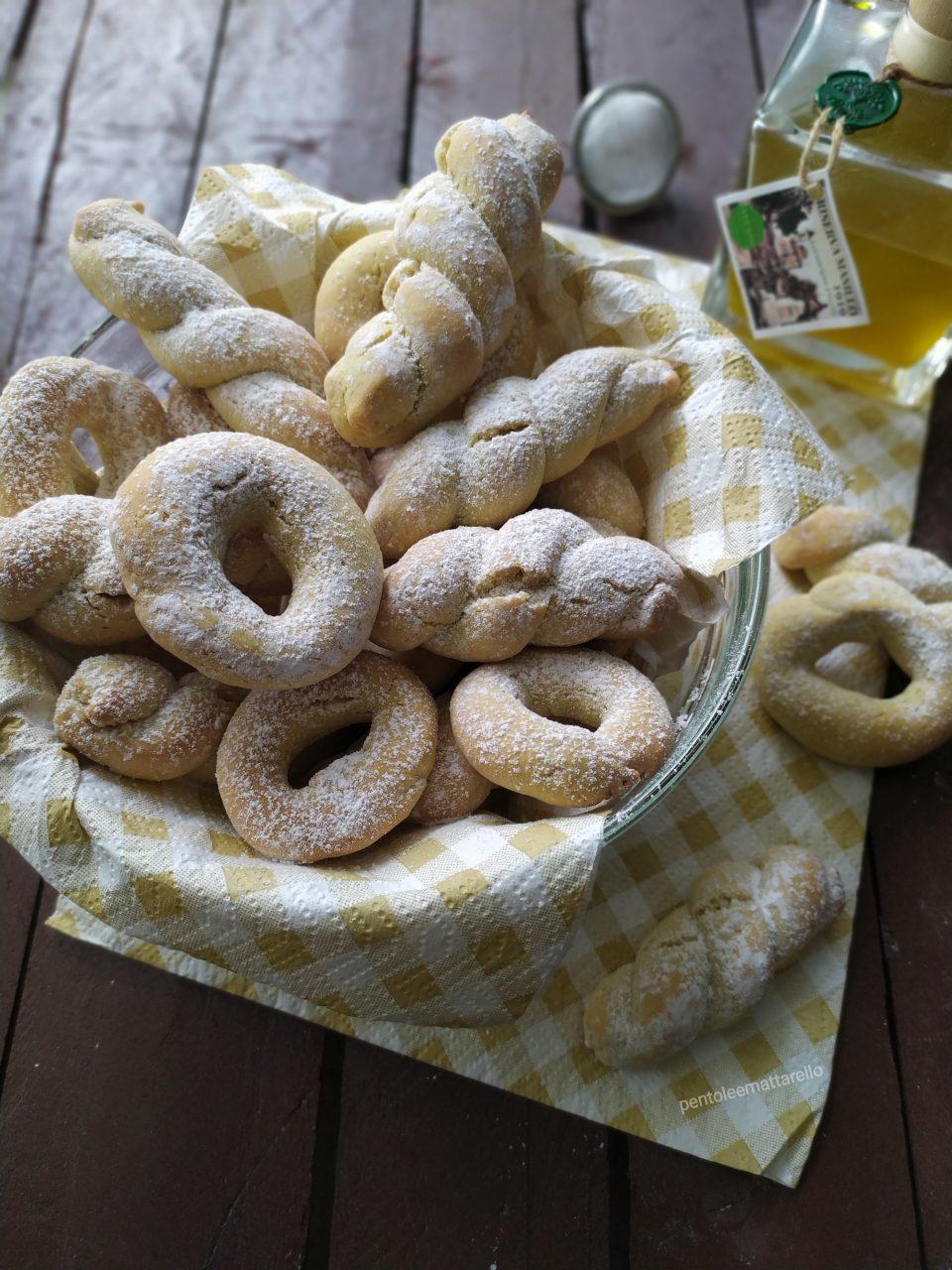 oliva di all'olio Biscotti