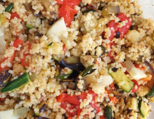 Cous cous di verdure grigliate e cedro senza glutine