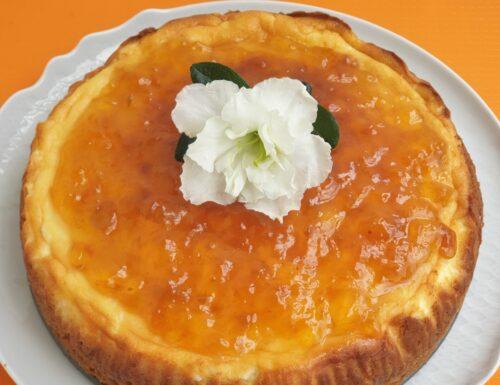 New york Cheesecake con marmellata di albicocche senza glutine