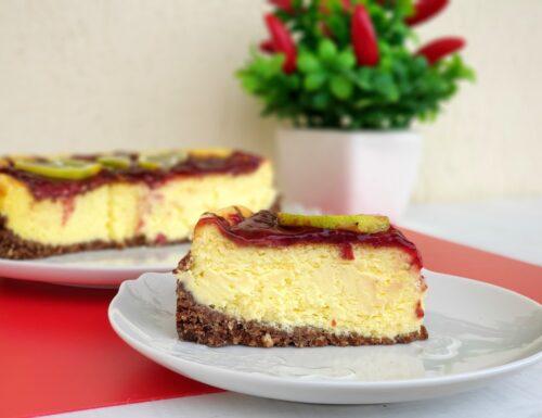 Cotton cake con corn flackes e confettura di amarene e limone