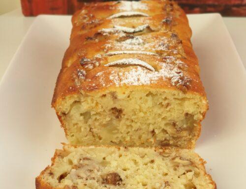 Profumato Plumcake pera e noci senza glutine con mezza bustina di lievito