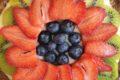 Crostata con grano saraceno alla crema pasticcera e frutta fresca