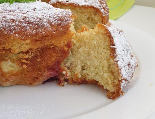 Profumata torta al latte e menta senza glutine con mezza bustina di lievito.