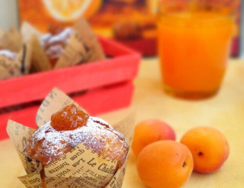 Muffin all'albicocca con lo yogurt senza glutine