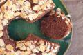 Torta con albume al cioccolato piccante senza glutine.