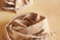 Fettuccine con farine di carrube.