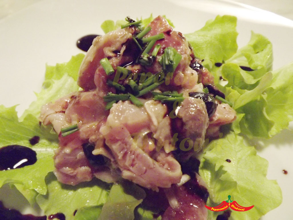 Antipasto, Palamita e olive nere