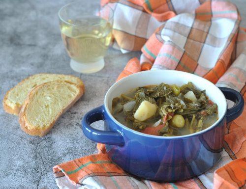 Minestrone di talli di zucchine o tenerumi