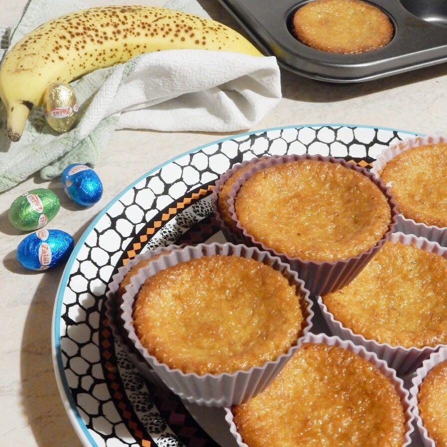 Muffin banana e cocco con cuore morbido