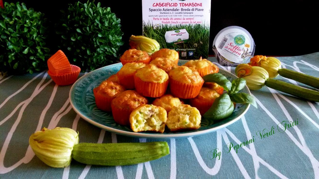 Mini muffin con ricotta tonno e zucchine