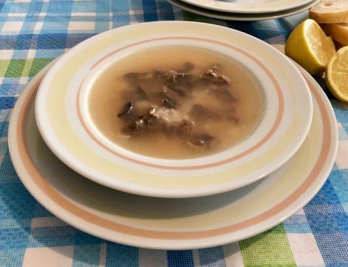 Zuppa di fegatini di pollo