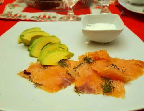 Salmone affumicato e avocado