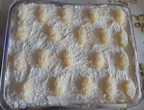 Dessert freddo al cocco e ananas, facile, veloce, senza uova e senza cottura!