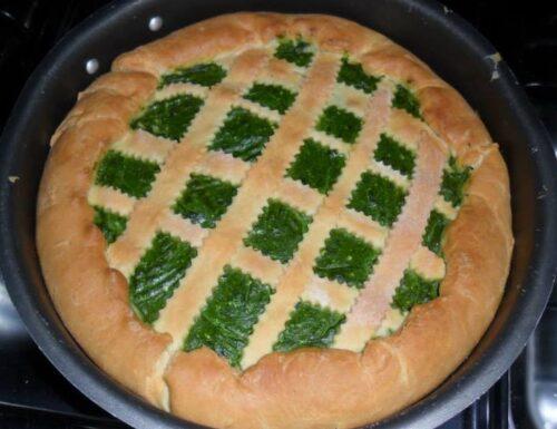 Torta rustica salata agli spinaci e ricotta.