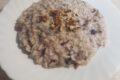 Risotto al radicchio, con gorgonzola e granella di noci