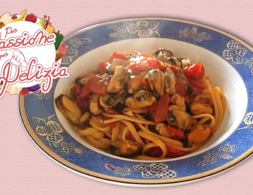 Linguine risottate con cozze e pomodorini
