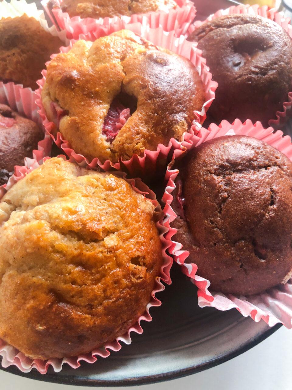 Muffins integrali alle fragole