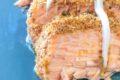 Filetto di salmone panato alla mediterranea