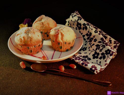 Muffins allo yogurt con frutti di bosco