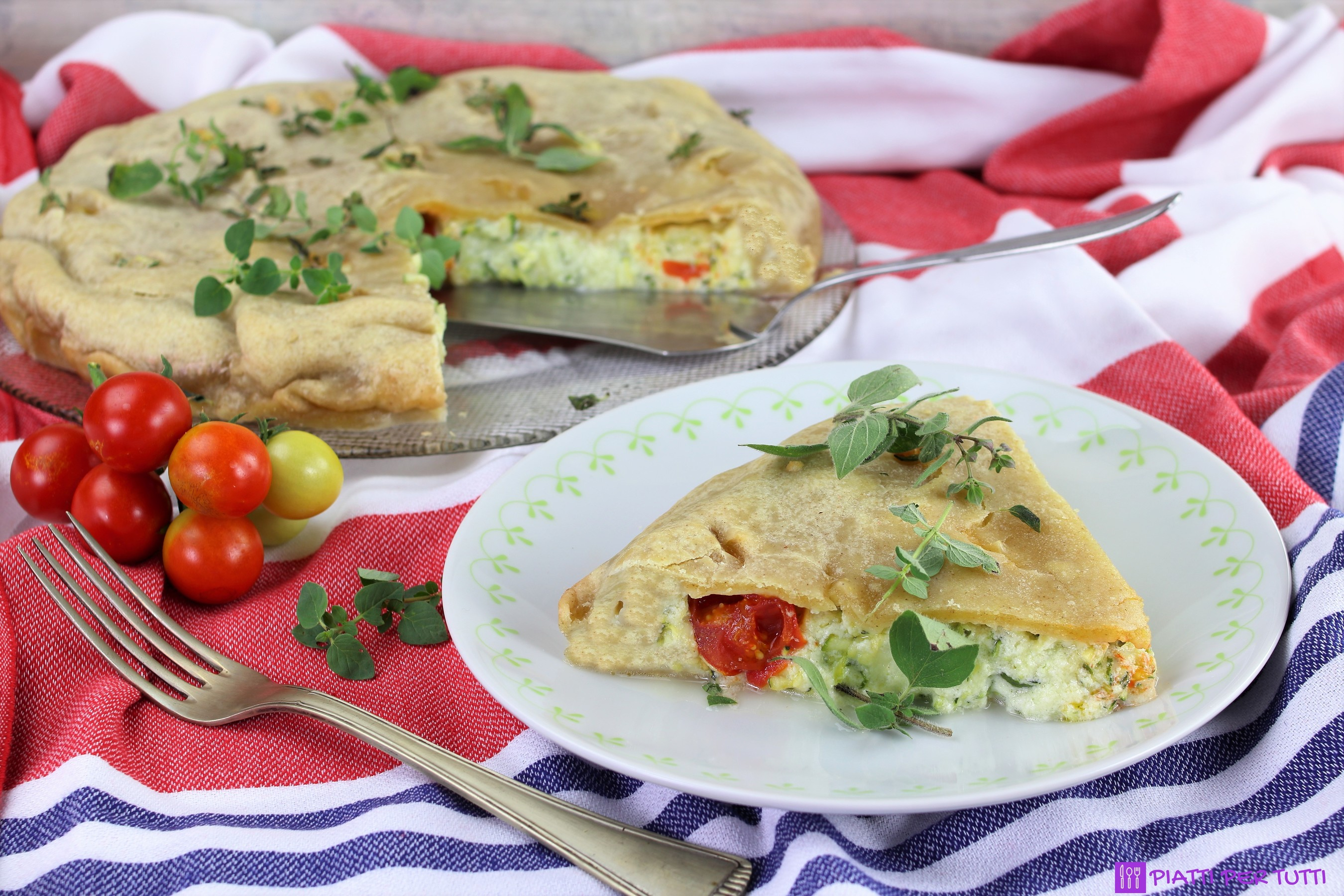 Torta salata ricotta e zucchine