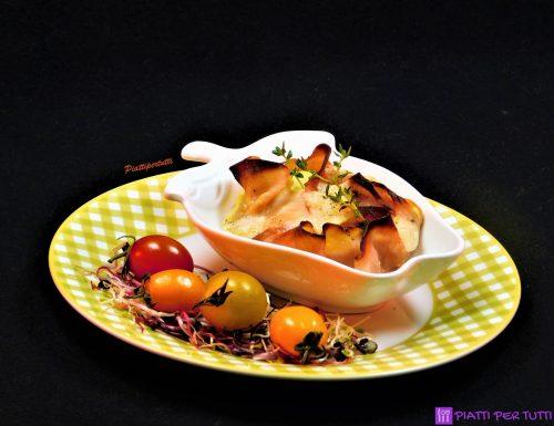Cestini di prosciutto e zucchine