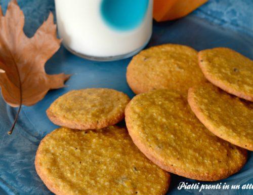 Biscotti alla zucca senza uovo