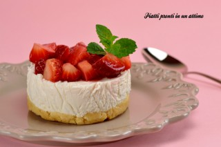 mini cheesecake light alle fragole