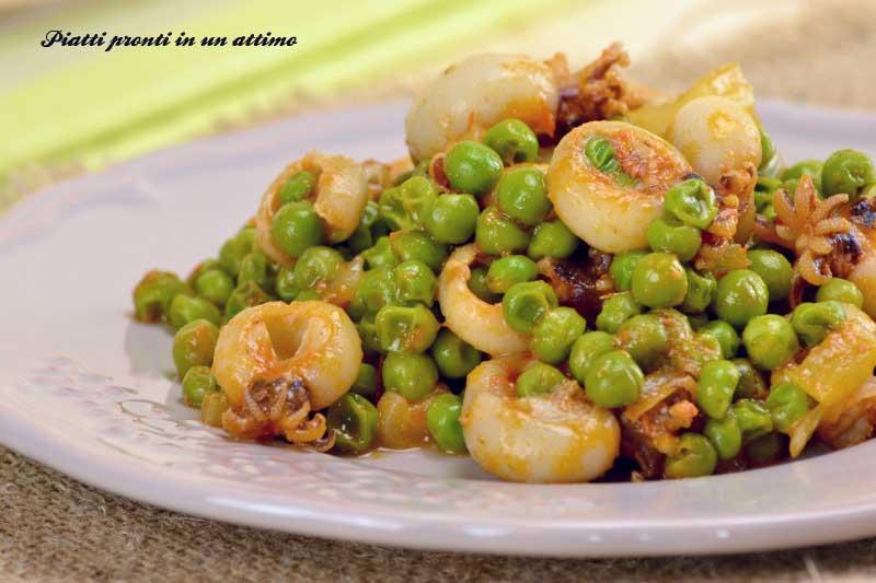 Seppie con piselli ricetta semplice e veloce for Cucinare seppie