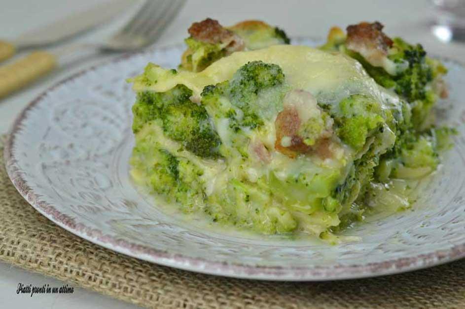 Lasagne con broccoli e salsiccia, primo piatto facile e ...