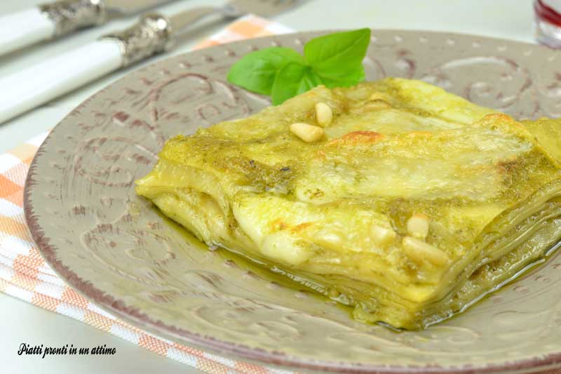 Lasagne al pesto di basilico e pinoli