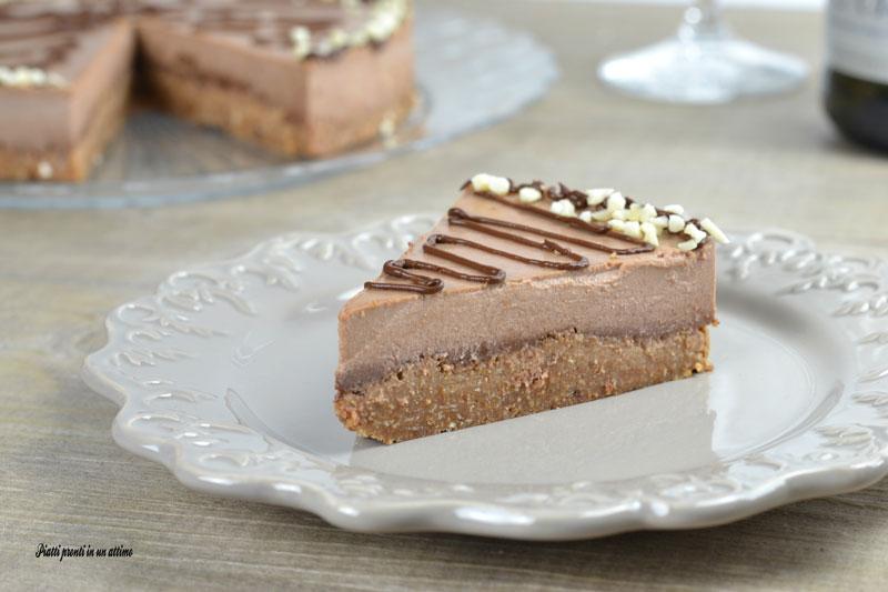 Torta panna cotta al cioccolato