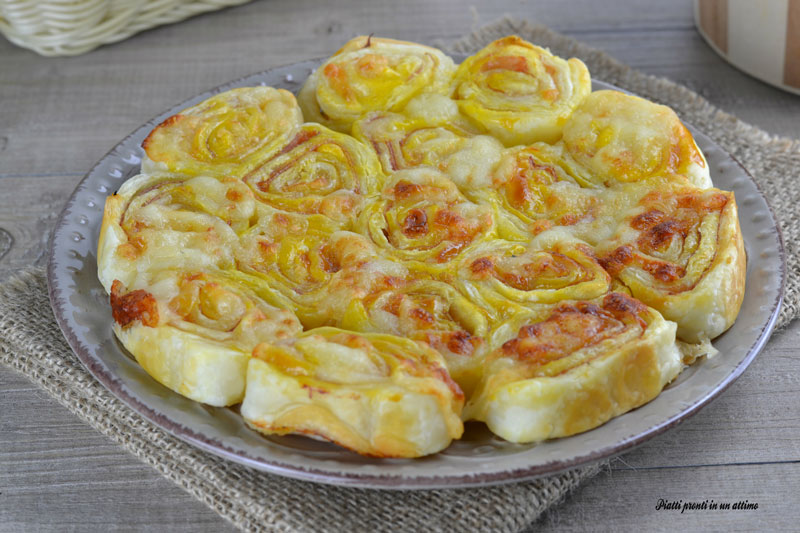 Torta salata girelle di pasta sfoglia