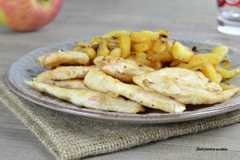 Straccetti di pollo alle mele