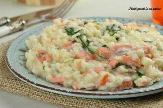risotto rucola e salmone