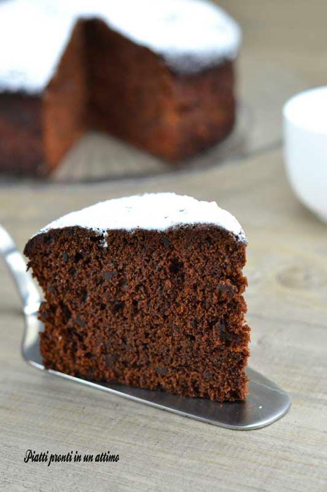 torta morbida al cacao senza burro