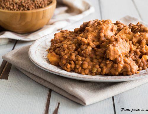 Spezzatino di vitello con lenticchie e patate